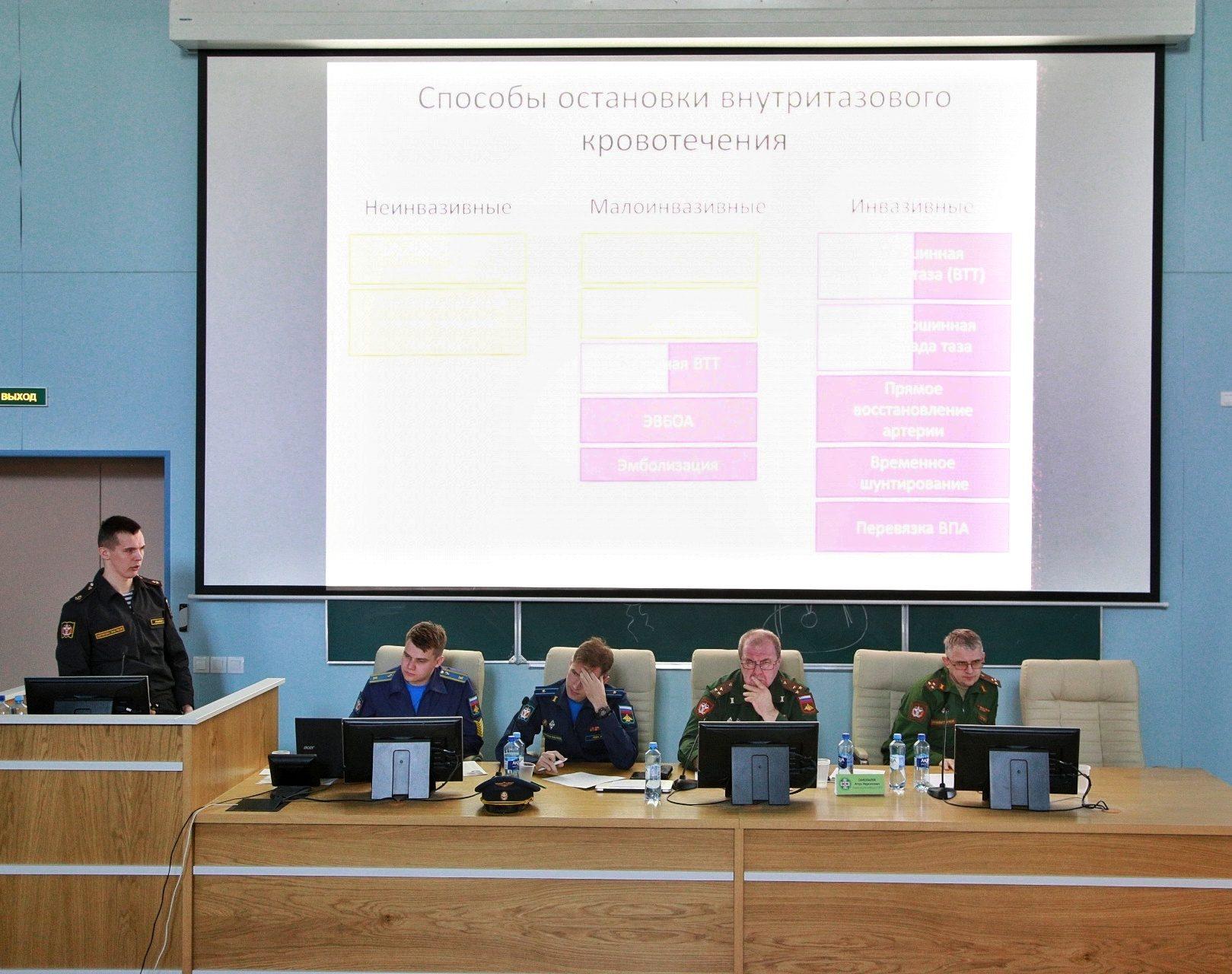 В Военно-медицинской академии состоялось итоговое заседание секции ВНОКС кафедры военно-полевой хирургии