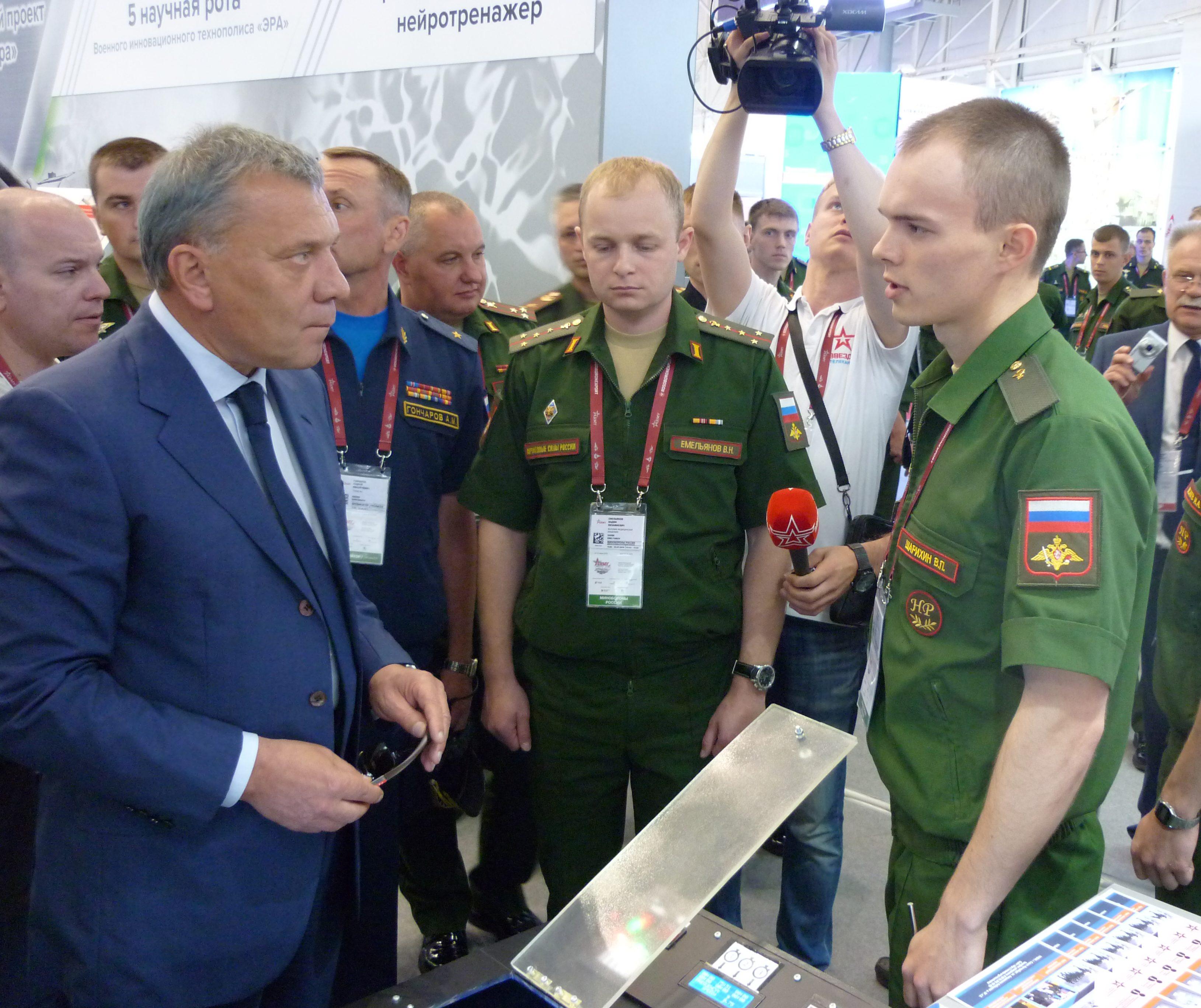 В день открытия форума «Армия-2019» операторы научной роты представили свои разработки