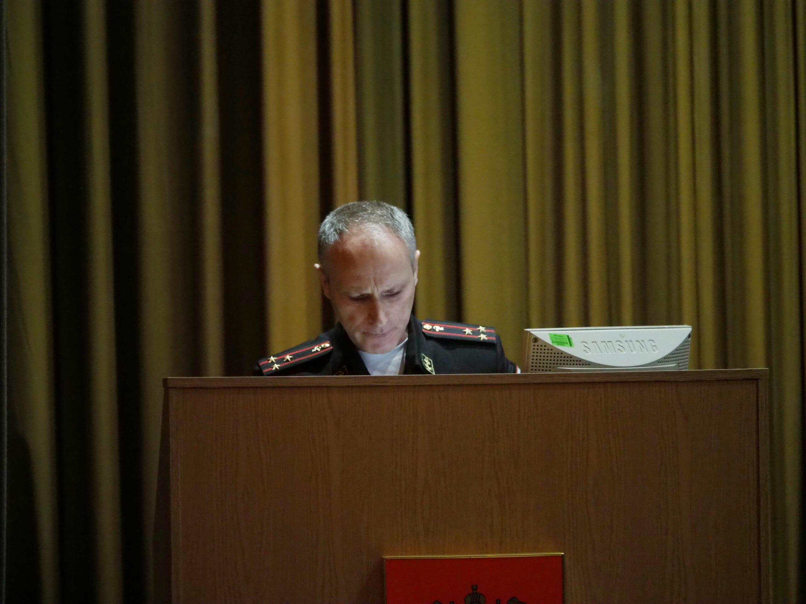 Главный санитарный врач Министерства обороны Российской Федерации выступил с лекцией перед специалистами и курсантами Военно-медицинской академии