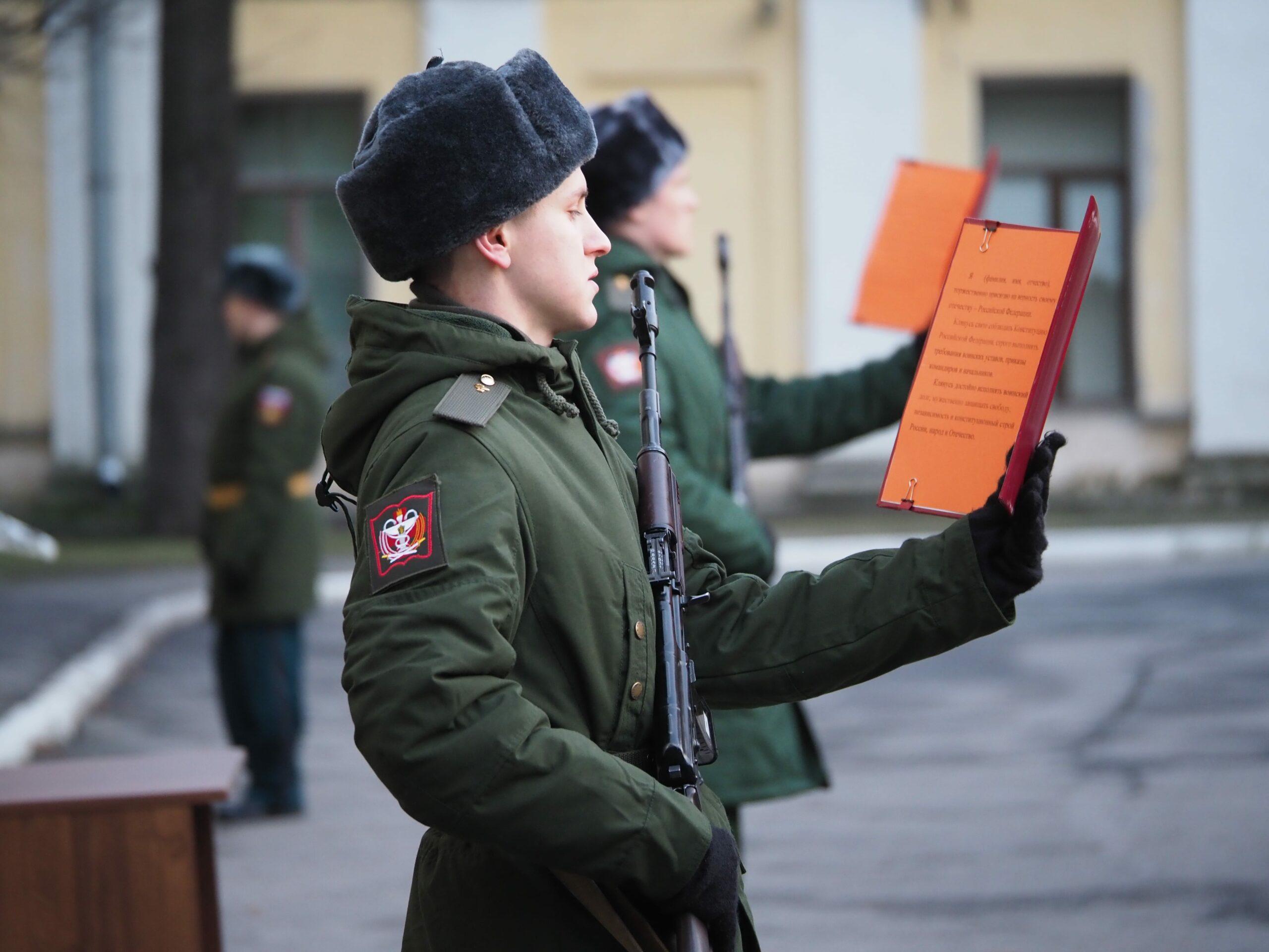 В Военно-медицинской академии состоялось торжественное приведение к военной присяге 11 призыва научной роты
