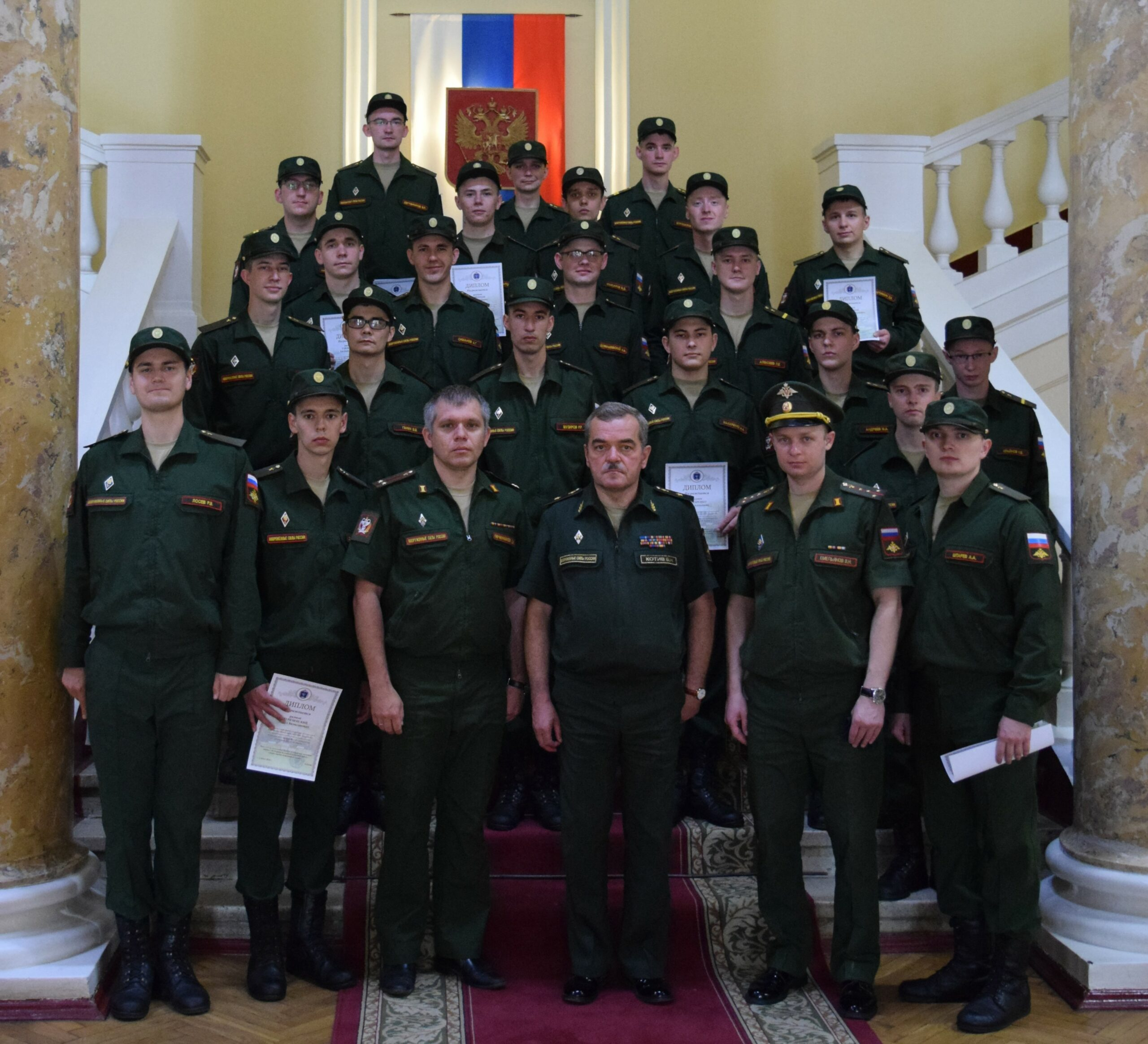 Операторам научной роты Военно-медицинской академии вручили дипломы в связи с успешным окончанием службы