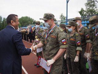 В Красном Селе прошло торжественное закрытие армейского этапа военно-медицинского многоборья Военно-медицинской эстафеты